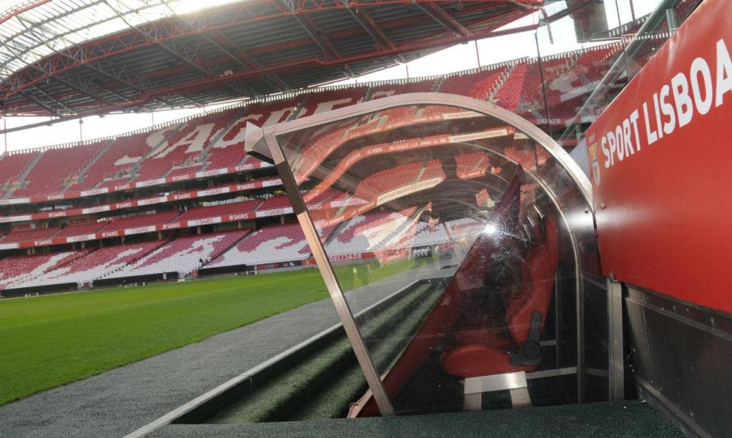 Banco de suplentes do Benfica
