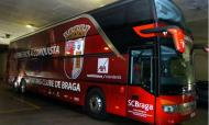 Autocarro do Sp. Braga apedrejado em Guiamrães