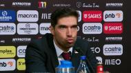 Abel Ferreira comenta o que aconteceu com o autocarro do Sp. Braga