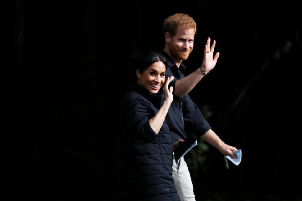 Meghan e Harry visitaram a floresta Redwoods, em Rorotua
