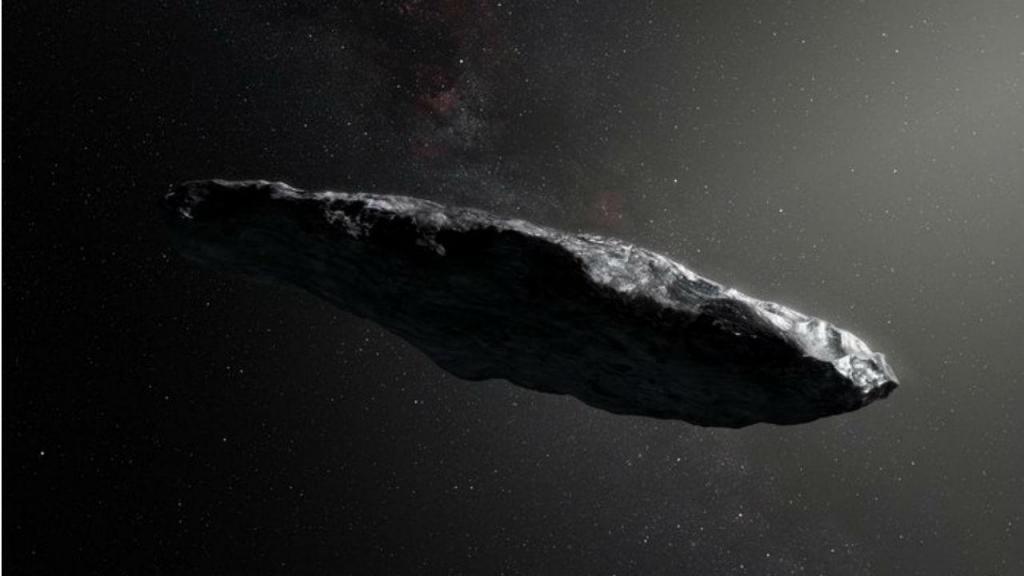 Representação artística do Oumuamua