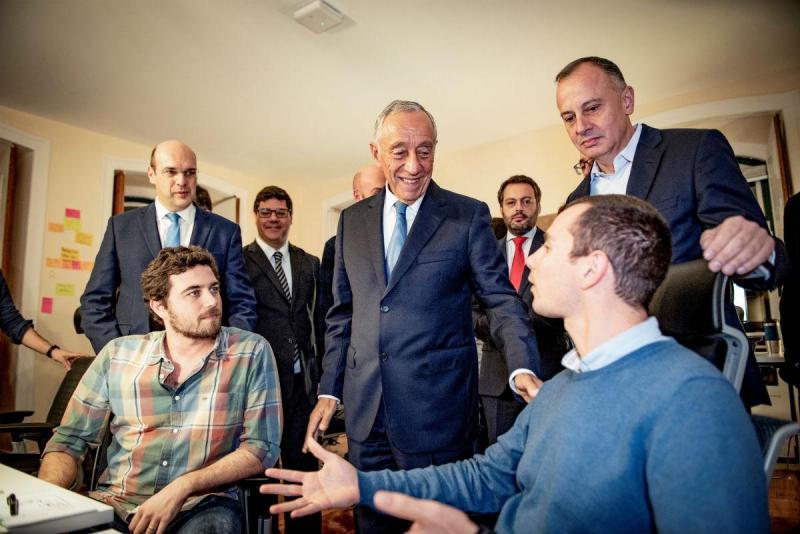 Presidente da República visita centro de desenvolvimento da VW em Lisboa