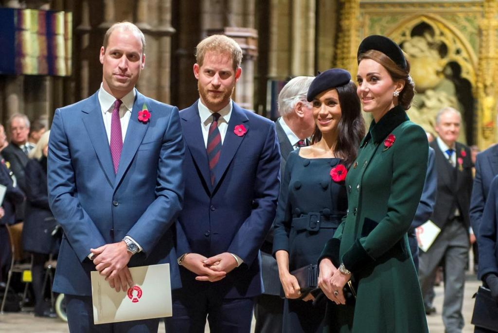 Meghan Markle e Kate Middleton: rivalizam em look preto total