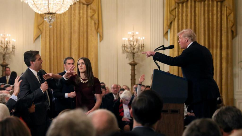 Jim Acosta e Donald Trump