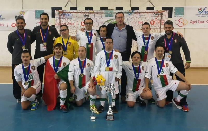 Seleção de futsal com síndrome de Down conquista campeonato da Europa