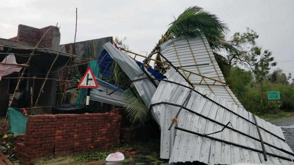 Ciclone na Índia