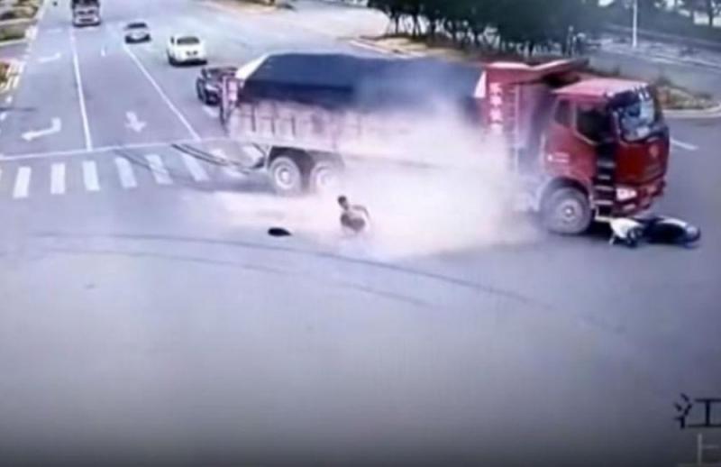 Acidente com scooter