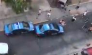 Polícias atacados por adeptos do All Boys (fonte: youtube)