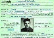 O primeiro cartão de atleta de Carlos Lopes no Lusitano Vildemoinhos (DR)