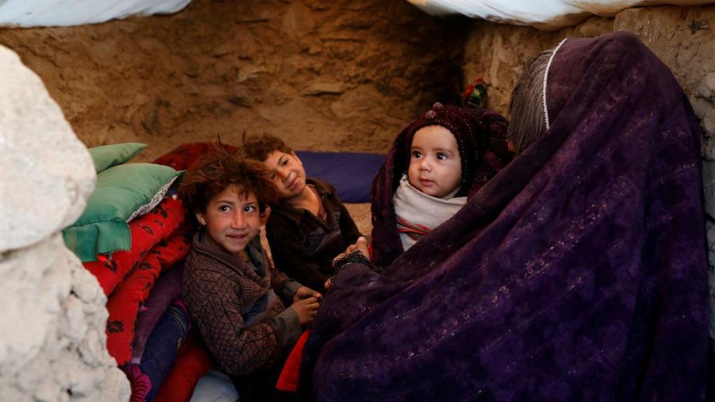 Campo de refugiados de Herat, no Afeganistão