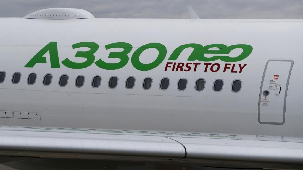 O novo avião da TAP, o A330 Neo, é o primeiro a ser entregue pela Airbus a uma companhia aérea.