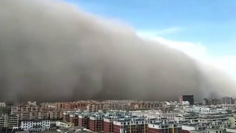Tempestade de areia em Zhangye