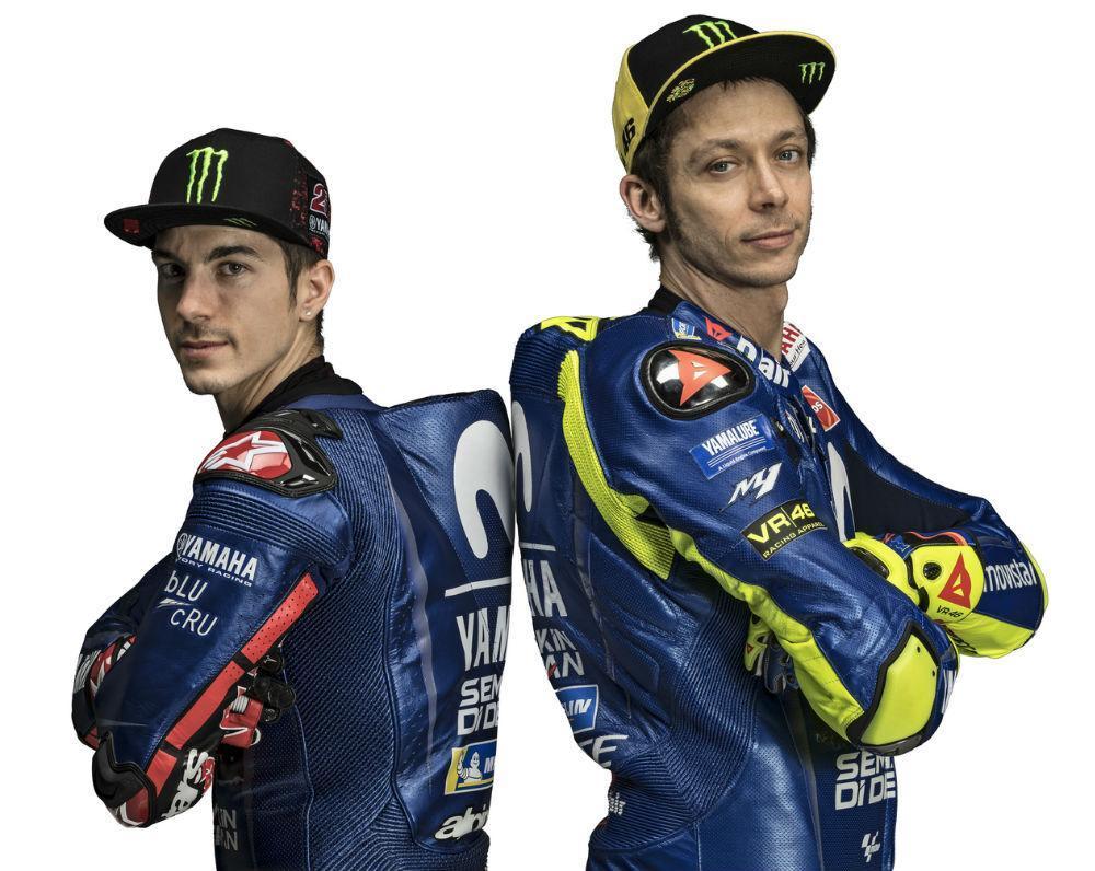 Maverick Viñales e Valentino Rossi (Yamaha)