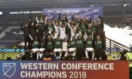 Portland Timber festejam título de campeão da Conferência Oeste (Denny Medley-USA TODAY Sports)