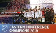 Atlanta United festeja título de campeão da Conferência Este (Vincent Carchietta-USA TODAY Sports)
