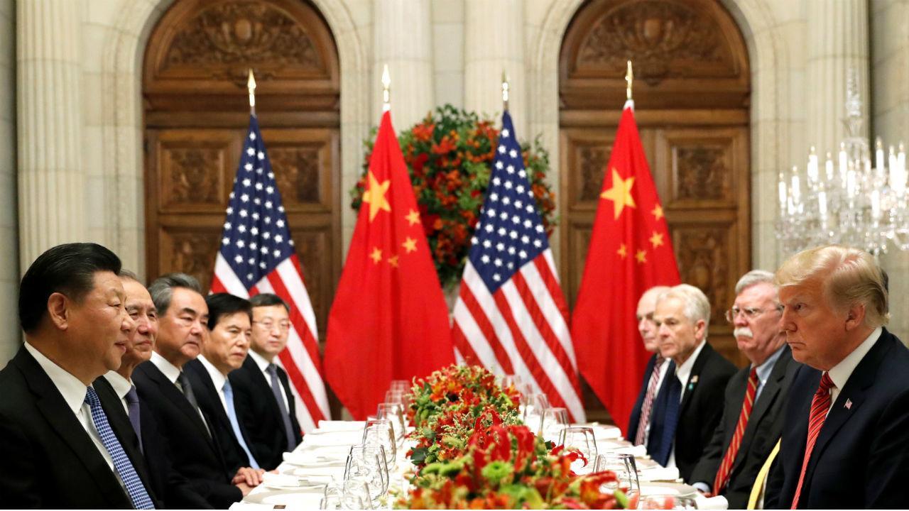 Xi Jinping e Donald Trump frente a frente num jantar após a cimeira do G20