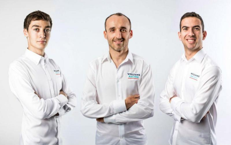 George Russel, Robert Kubica e Nicholas Latifi (imagem Formula 1)