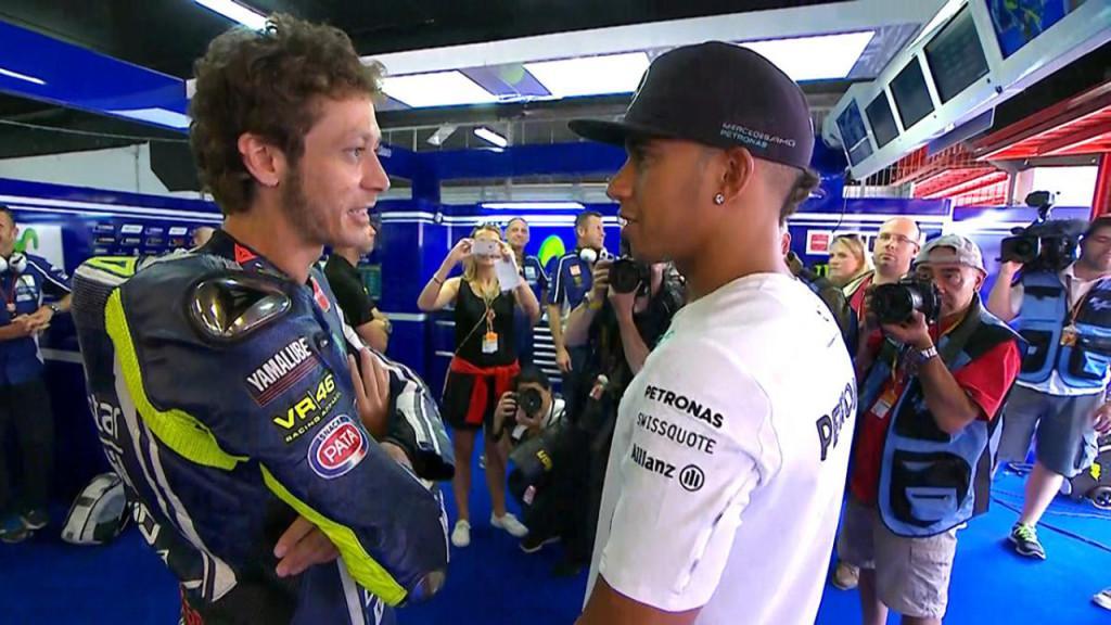 Valentino Rossi e Lewis Hamilton
