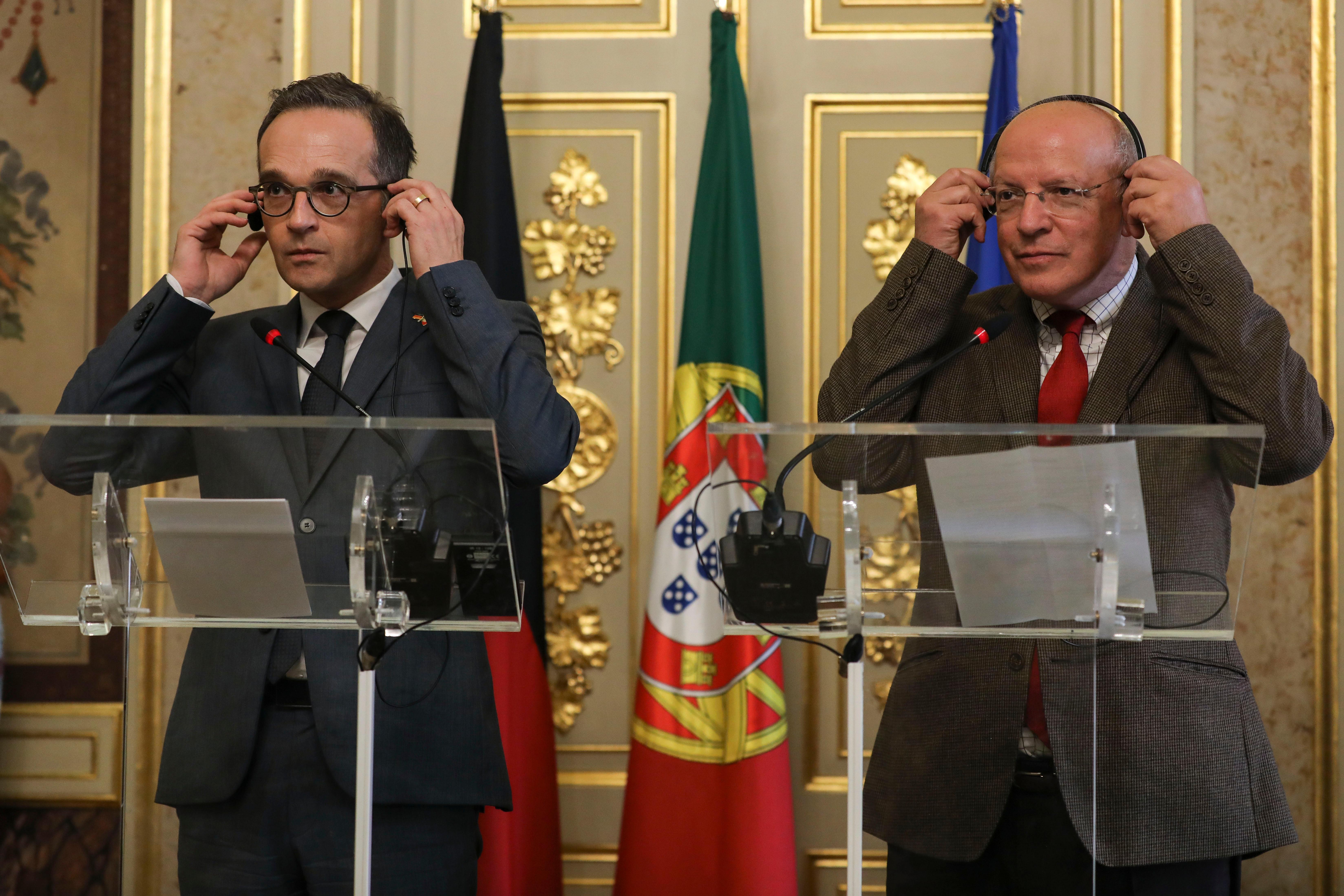 Heiko Maas com Augusto Santos Silva