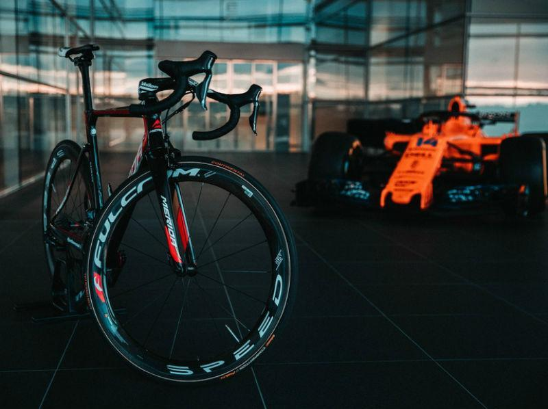 McLaren e Team Bahrain Merida juntam-se no Ciclismo (imagem McLaren Applied Technologies)