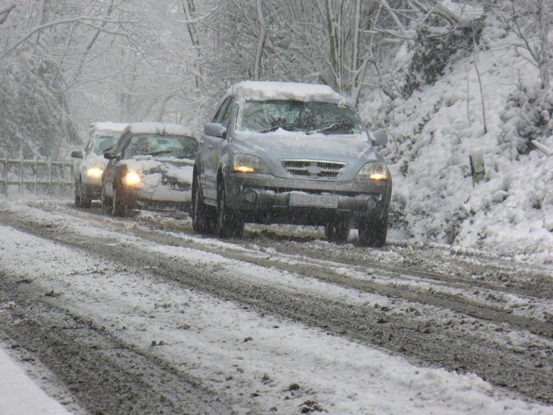 Condução sob neve