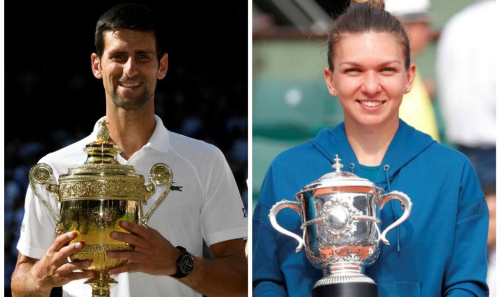 Novak Djokovic e Simona Halep (Reuters)