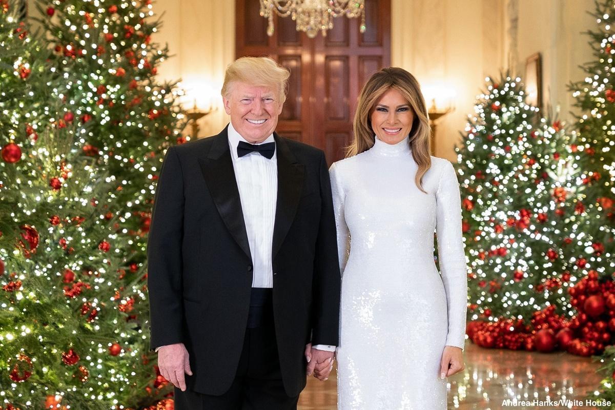 Donald e Melania Trump no Congressional Ball na Casa Branca