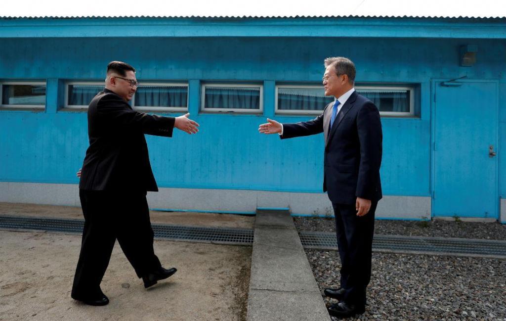 Encontro entre o presidente da Coreia do Sul, Moon Jae-in, e o líder norte-coreano, Kim Jong Un