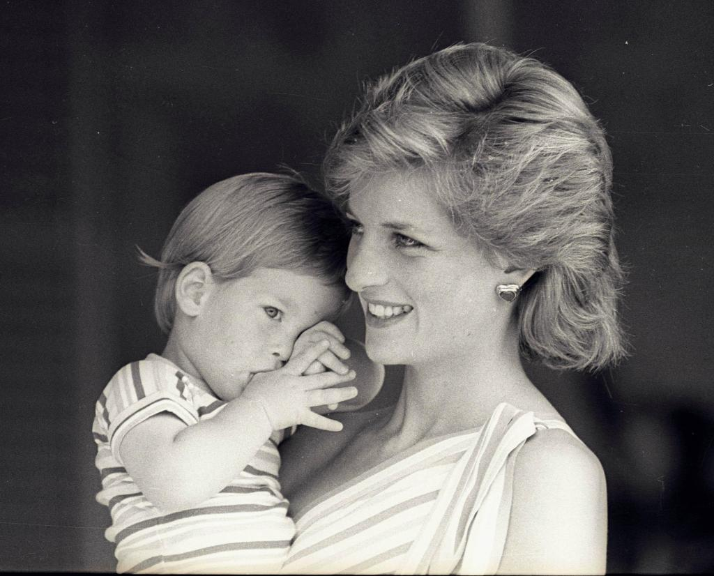 Princesa Diana e os filhos