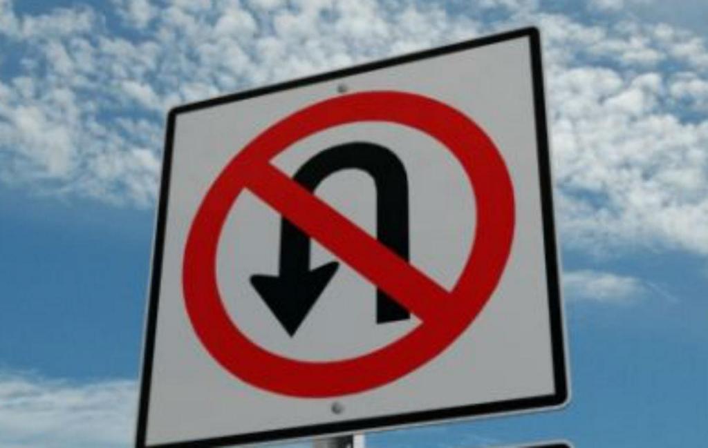 Proibido inversão de marcha