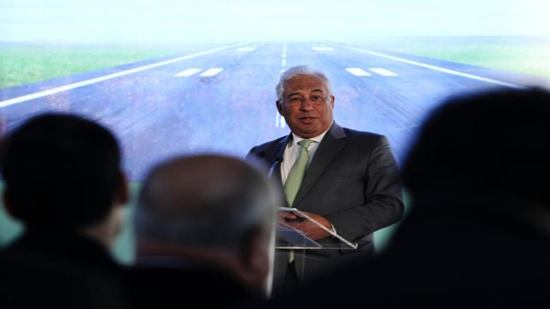 António Costa na assinatura do acordo do novo aeroporto do Montijo