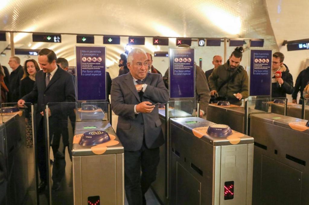 O primeiro-ministro esteve presente no lançamento do concurso de construção das novas estações do Metropolitano de Lisboa