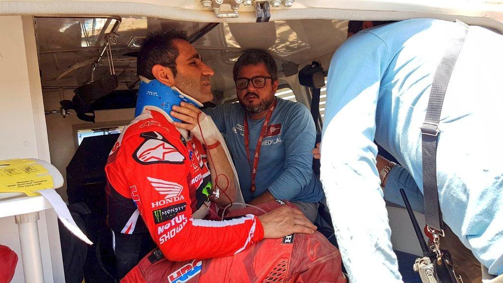 Paulo Gonçalves (imagem Twitter Dakar Rally)