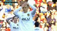 O resumo do empate do Valência com o Valladolid (1-1)