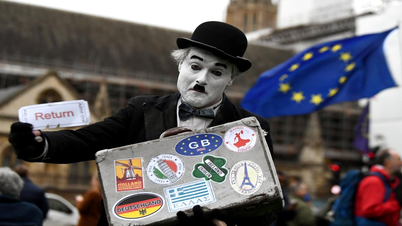 Protesto pela continuidade do Reino Unido na União Europeia