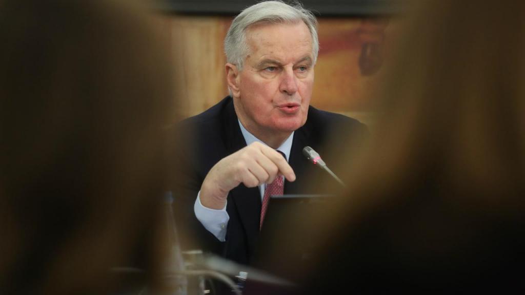Michel Barnier no Parlamento português
