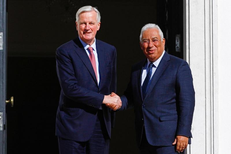 Michel Barnier e António Costa
