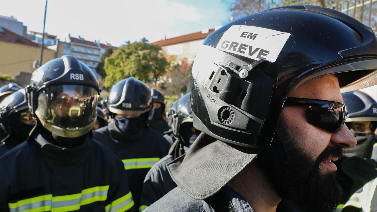 Protesto dos bombeiros em Lisboa