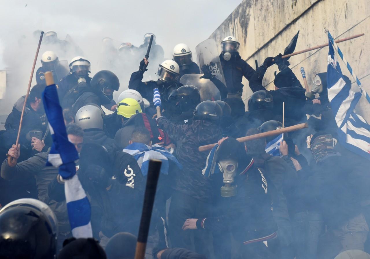 Resultado de imagem para Mais de 60 mil protestam em Atenas contra acordo para alteração do nome da Macedónia
