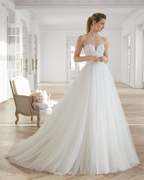 Vestido de noiva em renda bordado 2 em 1