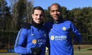 Cédric Soares e João Mário (twitter Inter de Milão)
