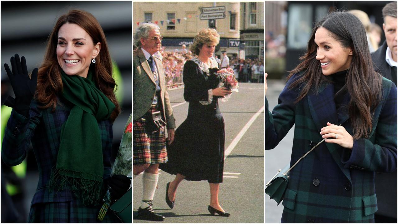Kate Middleton inspira-se em visual de princesa Diana