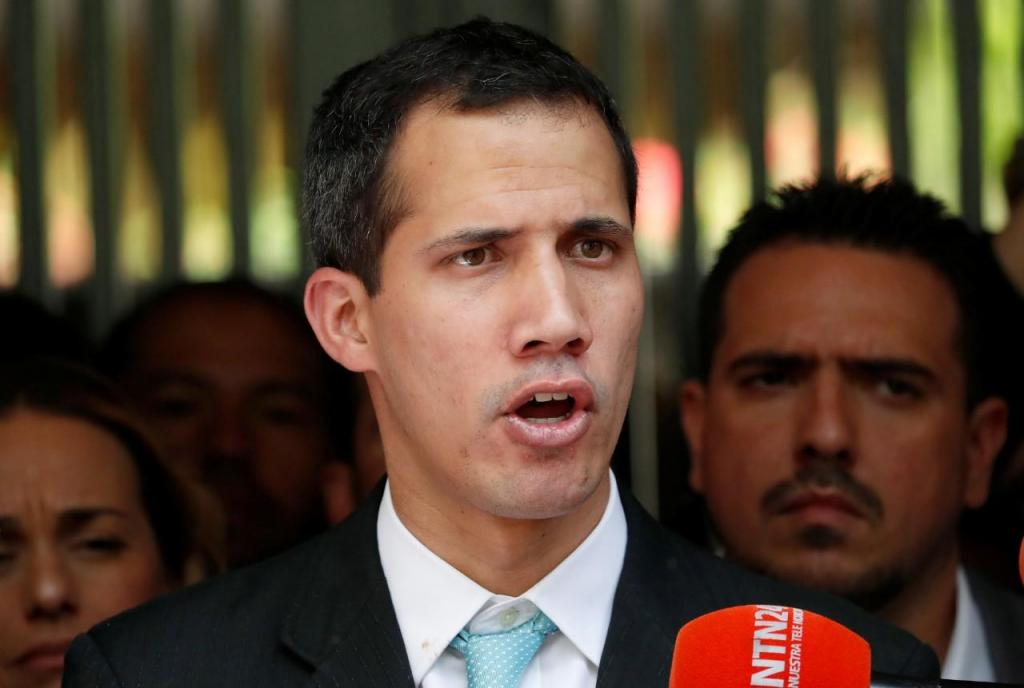 Juan Guaidó e a família, em Caracas, Venezuela