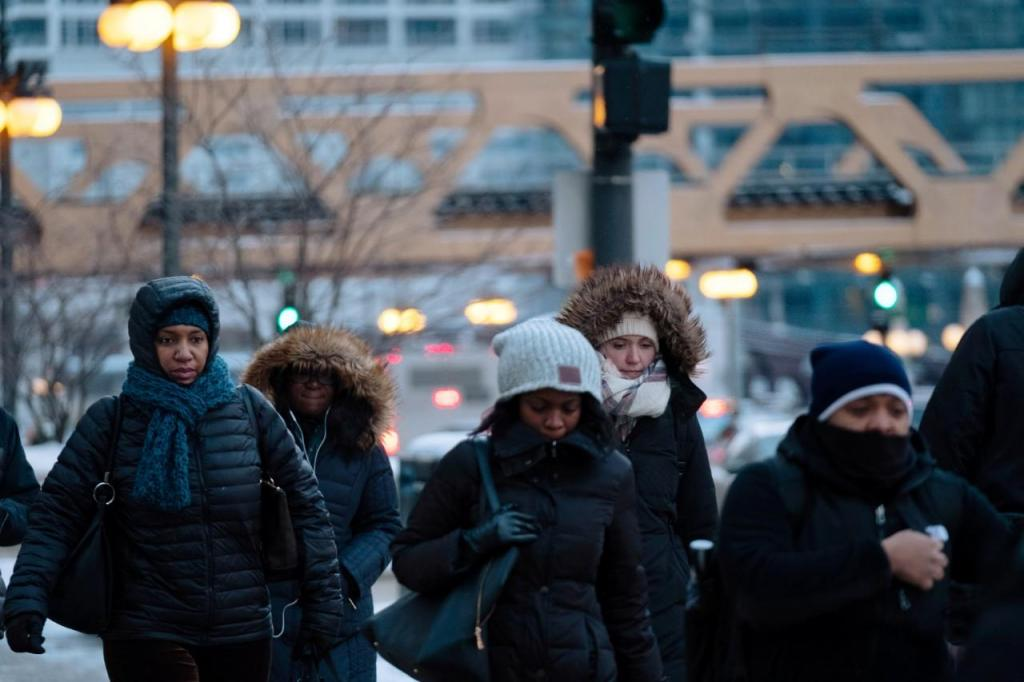 Frio polar nos EUA
