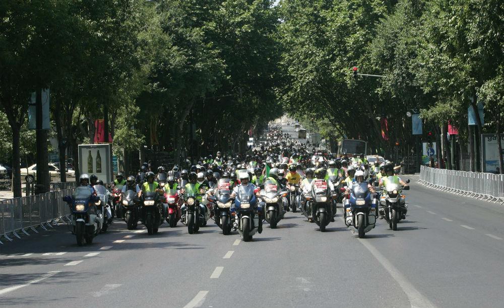 Manifestação de motociclistas