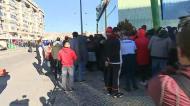 Adeptos do Benfica começam a entrar em Alvalade