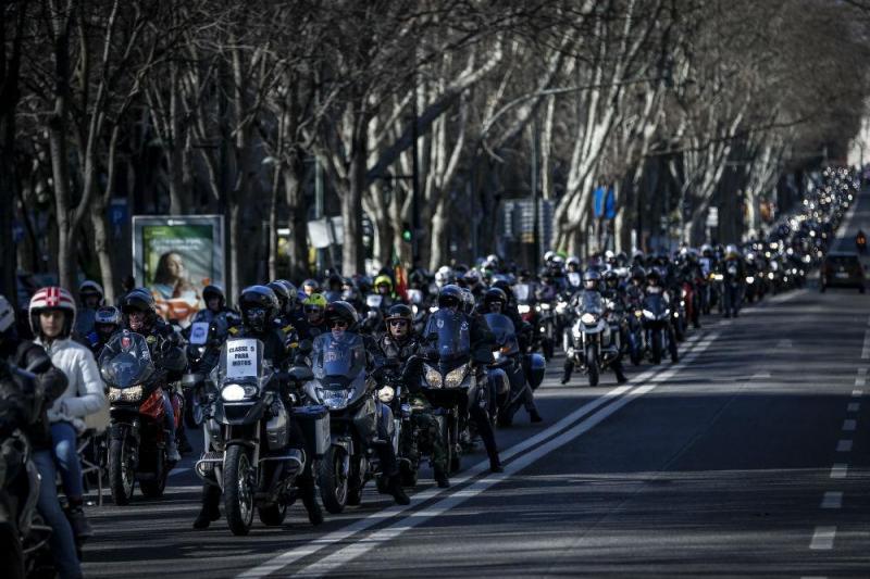 Manifestação de motociclistas (Lusa)
