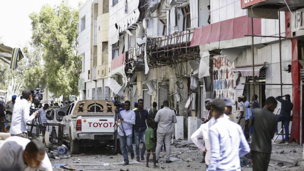 Explosão num mercado em Mogadíscio, Somália