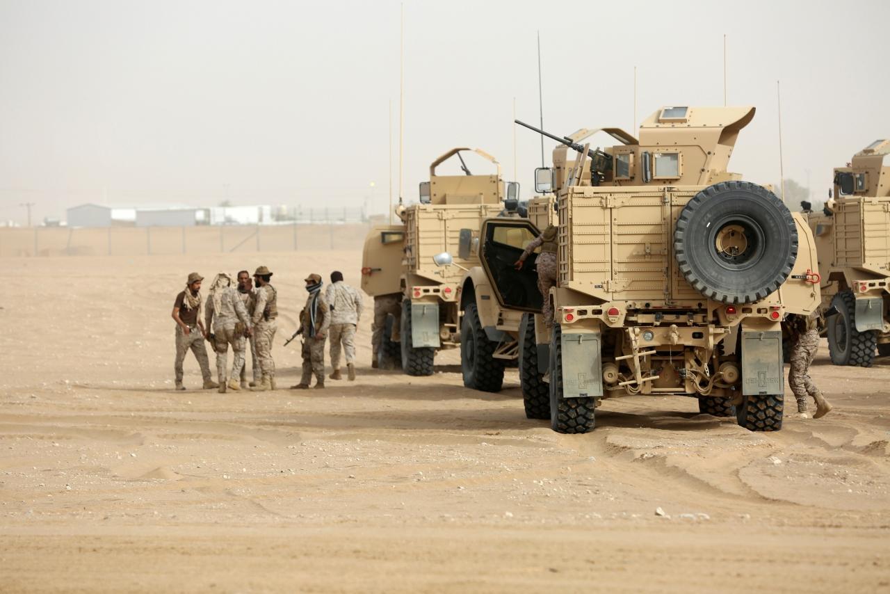 Blindados Oshkosh M-ATV que lutam nos dois lados do conflito