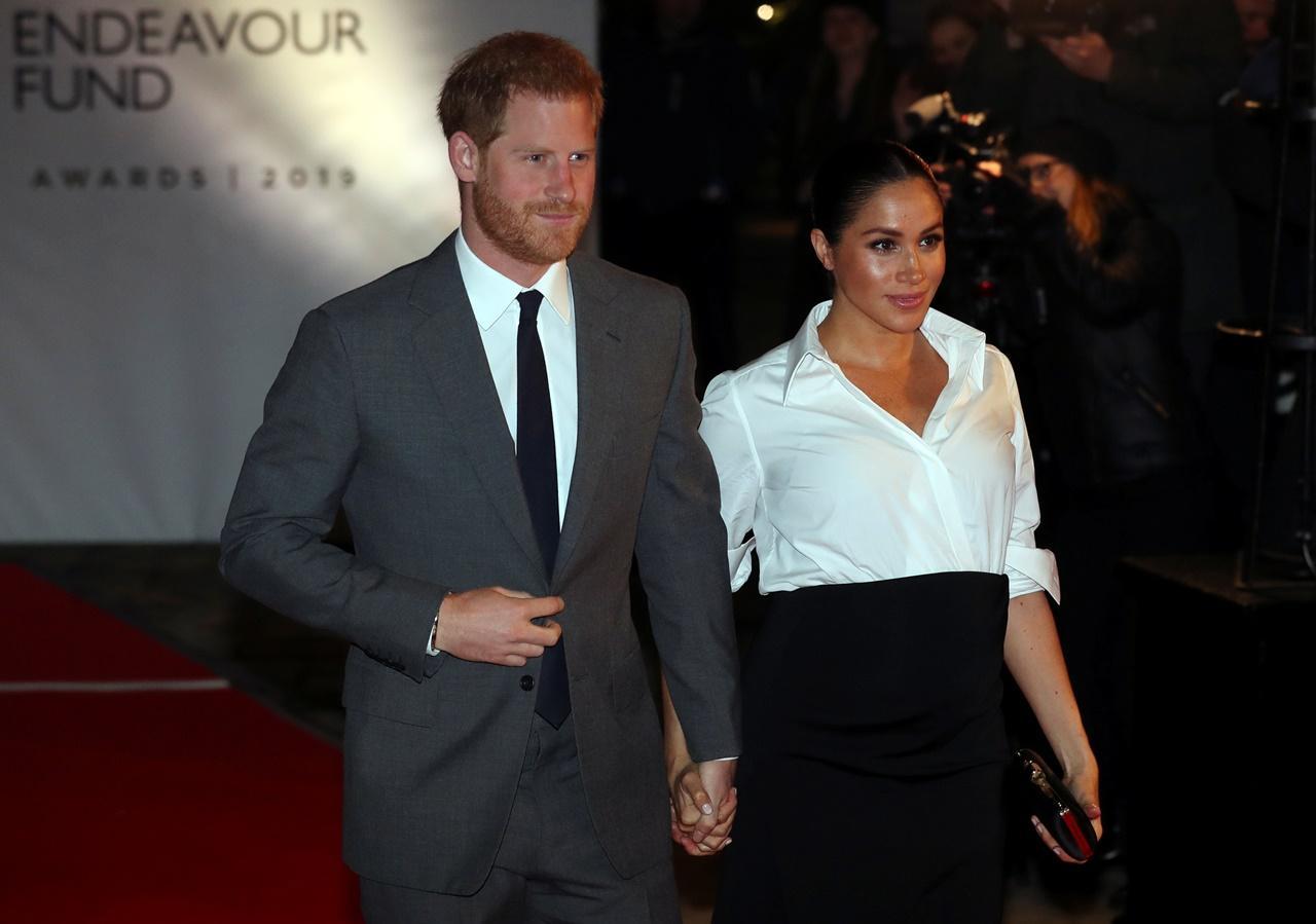 Meghan Markle e príncipe Harry nos Endeavour Fund Awards